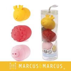 Đồ chơi tắm silicon set 3 con vật Marcus & Marcus – Lola, Marcus & Pokey