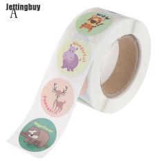 Cuộn 500 nhãn dán Jettingbuy hình động vật hoạt hình dễ thương dán nhật ký, album hoặc phần thưởng – INTL