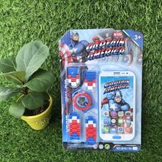 Combo Đồng hồ và điện thoại siêu nhân/ Spider man cho bé