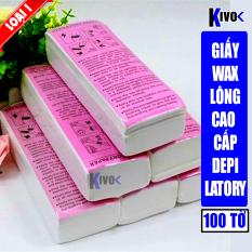 [LOẠI 1] Giấy Wax Lông 100 Tờ Cao Cấp- Miếng Was Triệt Lông Chân Tay Nách Depilatory Paper – Giấy Wax Tẩy Lông –