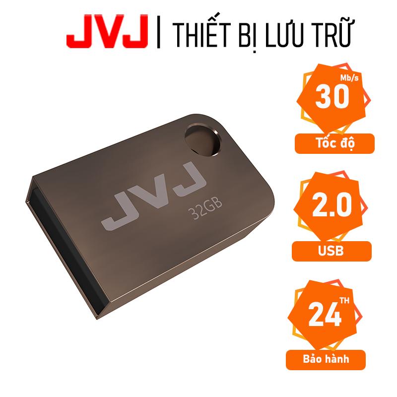 USB 32Gb 2.0 JVJ FLASH S2 siêu nhỏ vỏ kim loại – tốc độ 30MB/s chống nước chống nhiệt, Móc khóa, Bảo hành 5 năm