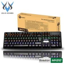 Bàn phím cơ chuyên game Blue Switch Bosston MK912 / MK912A / VM01 – thay đổi 9 chế độ đèn Led (Đen) – Phụ Kiện 1986