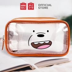Túi đựng mỹ phẩm trong suốt Miniso Bare Bears (Nhiều màu)