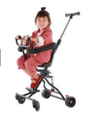Xe đẩy đi dạo 4 bánh cho bé, khung kim loại chắc chắn