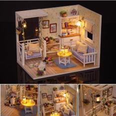 Bộ lắp ghép mô hình nhà gỗ DIY : Kitten Dairy H013 ( Tặng Kèm Mica + Keo )