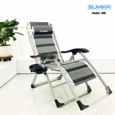 Ghế xếp thư giãn SUMIKA 199 – Mẫu mới nhất 2021, lăn tay massage, khung vuông cao cấp, tải trọng 300kg