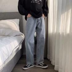 Quần baggy ống rộng – Quần jean nam jean trơn basic dễ phối đồ