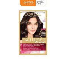 Thuốc nhuộm tóc L'oreal Paris Excellence Creme #3 Dark Brown 172ml (Màu Nâu Đen Tự Nhiên)