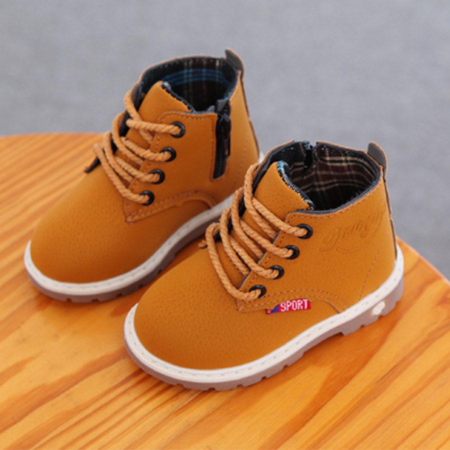 Giày boot cổ cao đế kếp chống trơn trượt – giày tập đi cho bé trai và bé gái