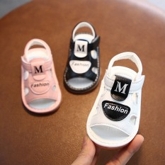(A809) Dép tập đi chữ M Fashion cho bé / đế kết , đi kêu chip chip