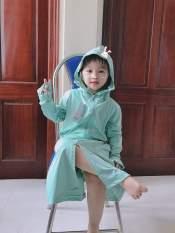 Áo chống nắng toàn thân xuất Nhật cho bé từ 15-35kg, chất thông hơi thoáng mát,