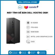 Tặng OFFICE 365 BẢN QUYỀN | Trả góp 0% | Freeship | Máy tính để bàn Dell Vostro 3681,Intel Core i5-10400(2.90 GHz,12 MB),8GB RAM,1TB HDD,DVDRW,WL+BT,Mouse,Keyboard,Win 10 Home,McAfeeMDS,1Yr,