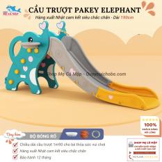 Cầu trượt Pakey Elephant bản đúp dày dài, Cầu trượt cho bé đủ 3 màu đáng yêu