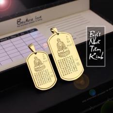 MẶT DÂY CHUYỀN TITAN BÁT NHÃ TÂM KINH MÀU VÀNG DN155 (Tặng 1 dây bi) – Trang sức inox – titan TAJ giá rẻ bảo hành không đen tại HCM