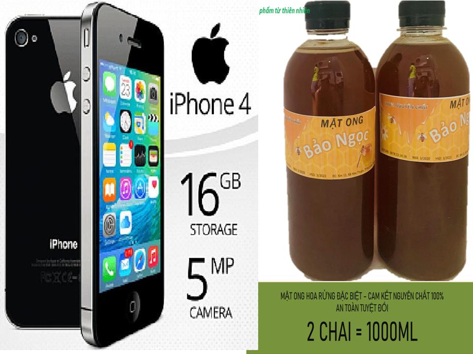 Mua 1 Lít mật ong nguyên chất – tặng 1 chiếc ĐT iphone 4 chinh hãg- đủ chức năng