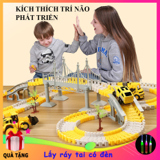 Đồ chơi lắp ráp đường ray Ô tô, đồ chơi đường đua xe gồm nhiều chi tiết giúp phát triển trí tuệ cho bé