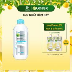 Nước làm sạch và tẩy trang cho da dầu mụn Garnier Micellar Water 400ml