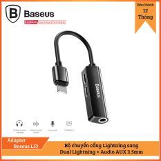 Bộ chuyển cổng Lightning sang Dual Lightning + Audio AUX 3.5mm Baseus L52 cho iPhone/ iPad