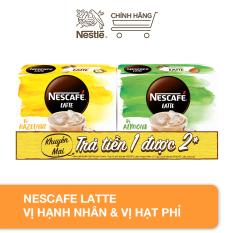 [Mua 1 được 2] Combo Nescafe Latte vị hạnh nhân & vị hạt phỉ [2 hộp (10 gói x 24g)]