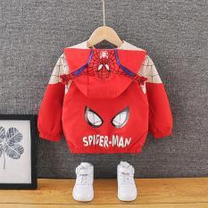 ❤️ HÀNG HOT CHO BÉ ❤️ Áo khoác gió 2 lớp cho bé tạo kiểu dáng NGƯỜI NHỆN Spiderman ngộ nghĩnh – full size cho bé