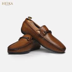 Giày da bò cao cấp/Giày lười giày mọi nam HEIKA410-Bảo hành 12 tháng-Tặng kèm lót giày