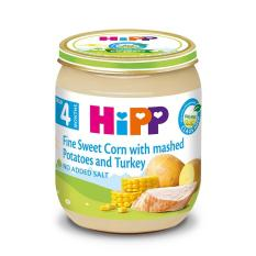 Dinh dưỡng đóng lọ Ngô bao tử, Khoai tây, Gà tây (A) HiPP Organic 125g