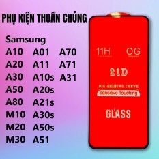 Kính cường lực Full keo Samsung New A71, A51, A10, A20, A30, A01, A50, A11, A70, A80, A21s, M10, M20, M30, M40, A10s, A30s, A50s, M30s,A31