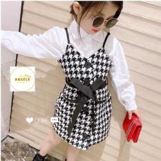 Set áo váy phong cách cho bé gái ( 9-22kg)