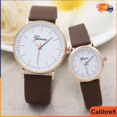 Đồng hồ cặp nam nữ – Đồng hồ nữ dây da – Đồng hồ geneva cặp cá tính – Tặng kèm hộp