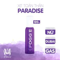 Xịt toàn thân FOGG Paradised 120ml (1000 lần xịt),Xịt toàn thân nước hoa,Xịt thơm,Xịt nước hoa Dubai,Xịt toàn thân nam,Xịt toàn thân nữ,Nước hoa xịt toàn thân,Xịt thơm toàn thân,Xịt toàn thân không cồn,Xịt khử mùi,Thơm lâu,Giữ mùi