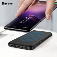 Pin dự phòng không dây – Sạc không dây đa năng Baseus M36 siêu đẹp thông minh chuẩn Qi kiêm pin dự phòng 10000 mAh cho Iphone 8, iphone X, iphone Xs Max, Samsung Galaxy S9, Note8, Note 9 – Phân phối bởi Vietstore