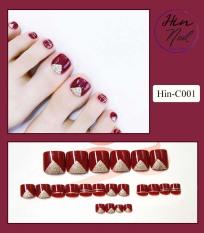 [TẶNG 1 dũa + 1 lọ keo] Móng chân giả có keo sẵn – móng chân giả cao cấp kèm keo dán móng