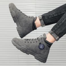 Giày cao cổ nam Denim ARS da cao cấp kiểu dáng thời trang phong cách