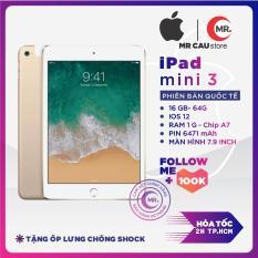 IPAD MINI 3 4G/WIFI 64G/16G ZIN ALL MÀN 7.9 inch Retina, Vân tay,, Ram 1 G, Chip Apple A7, 1.3 GHz, Camera 5MP,chip đồ họa PowerVR G6430