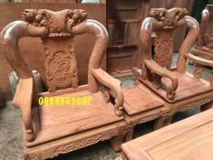 bộ quốc đào gỗ hương đá tay 10