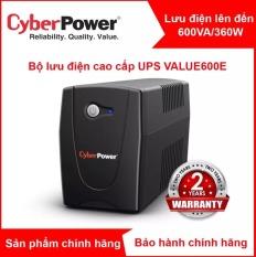 Bộ lưu điện UPS CyberPower 600VA/360W cho PC/hệ thống NAS SYNOLOGY VÀ BUFFALO – VALUE600E