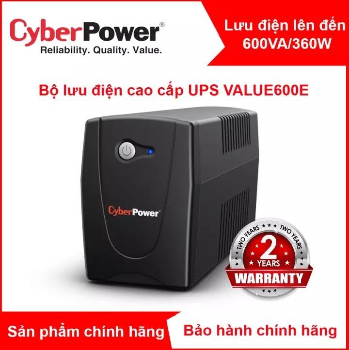 Bộ lưu điện UPS CyberPower 600VA/360W cho PC/hệ thống NAS SYNOLOGY VÀ BUFFALO - VALUE600E