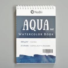 Sổ vẽ Màu Nước Nabii Aqua Fat 300gsm A5 (25 tờ) 13x19cm