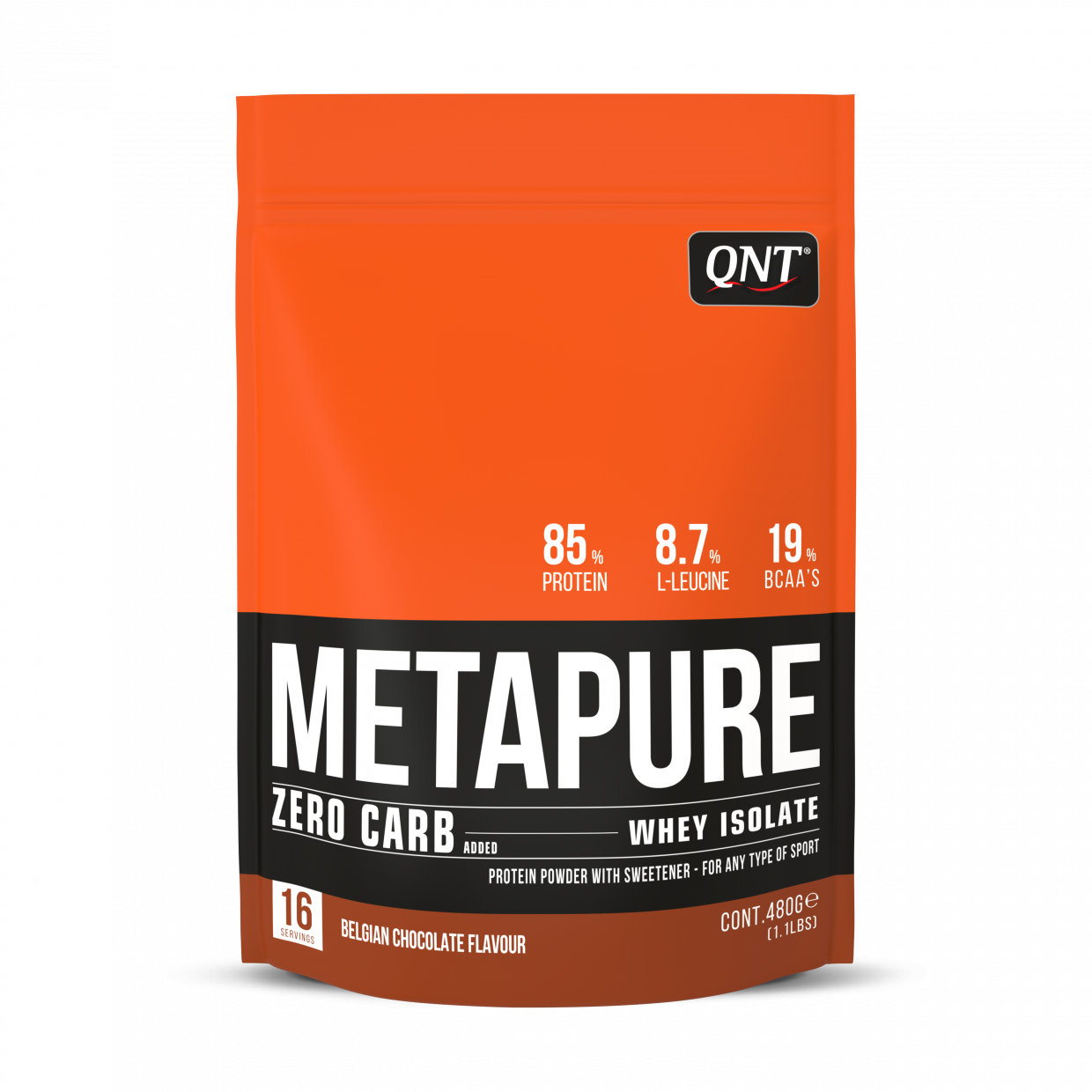 Isolate Whey Zero Carb Metapure Protein 480g Belgian Chocolate HSD Cuối tháng 1/2021/ Expired Date End of January 2021