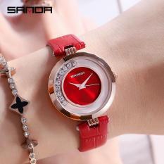 Đồng hồ nữ SANDA 245 Nhật Bản – Dây da mềm tốt