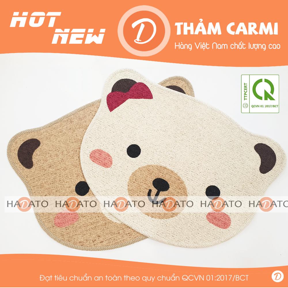 [XUẤT HÀN] Thảm lau chân Thảm chùi chân Carmi hình gấu dễ thương - CM 3