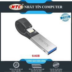 USB 3.0 OTG SanDisk iXpand 64GB dành cho Iphone / Ipad (Bạc) – Nhất Tín Computer