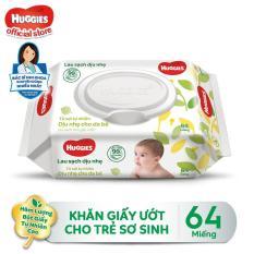 Khăn giấy ướt cho trẻ sơ sinh HUGGIES không mùi 64 tờ