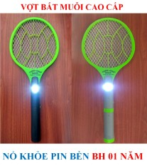 Vợt bắt muỗi cao cấp + đèn pin cao cấp + BH 01 năm (bộ 1 sản phẩm)