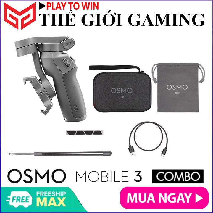 COMBO DJI OSMO Mobile 3 - Gimbal chống rung dành cho điện thoại, Gopro - Hãng phân phối chính thức
