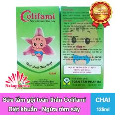 Sữa tắm gội rôm sảy COLIFAMI 125ml – Giúp diệt khuẩn, ngừa rôm sảy, hăm da ở trẻ em
