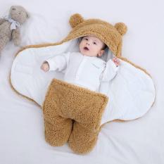 Chăn ủ sơ sinh body ủ lông cừu cho bé có chân chần bông cực ấm [Loại cực dày ấm] BABUBOBO