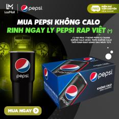 [Tặng ly Pepsi Rap Việt – FREESHIP – GIAO SAU NGÀY 17.11] Thùng 24 Lon Nước Ngọt Có Gas Pepsi Không Calo (330ml/Lon)