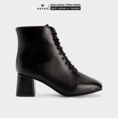 Giầy Bốt Nữ Boot Da Mịn Dây Buộc 5Phân HAPAS – BOT543
