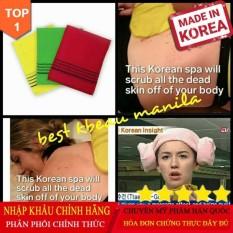 [hàng xách tay] Túi set 4 Găng tay (khăn) Tắm tẩy da chết, tẩy ghét Hàn Quốc phương pháp dưỡng da không dùng mỹ phẩm
